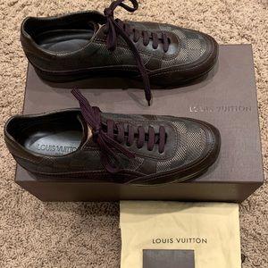 Louis Vuitton Men's Damier Leather/Canvas Sneaker
